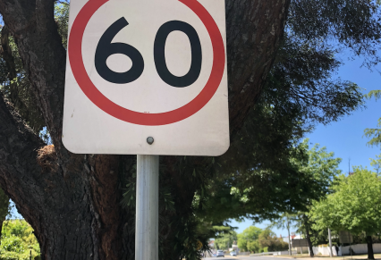 Road signs targeted